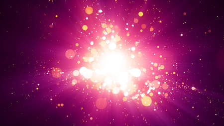 particles: Background with abstract particles and shining light rays. 8K Ultra HD Resolution at 300dpi