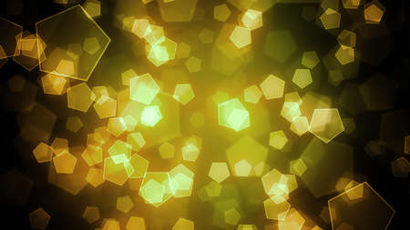 slide show: Bokeh Background with pentagon shapes and abstract particles. 8K Ultra HD Resolution at 300dpi Stock Photo