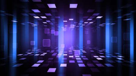 파티 배경으로 빛나는 lightsdance 층 및 추상 입자. 300dpi에서의 8K Ultra HD 해상도