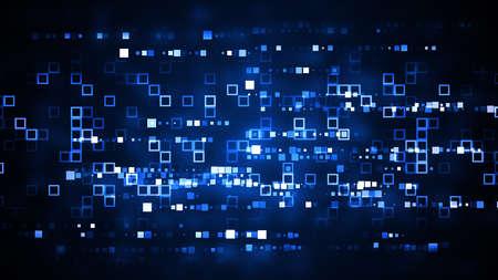 Tech Background with glittering lights and light grids. 8K Ultra HD Resolution at 300dpi Reklamní fotografie - 41793444