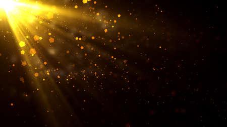 Fond de rayons de lumière cinématographique basé sur le culte et la prière, utile pour les concepts divins, spirituels et fantastiques.