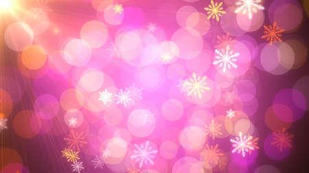 Fondo de copos de nieve navideños que pueden ser útiles para diseños y presentaciones de Navidad, vacaciones y año nuevo. Animación de fondo con capacidad de bucle sin problemas.