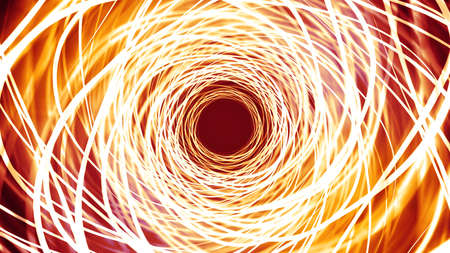 Abstract wavy streaks tunnel Animation.