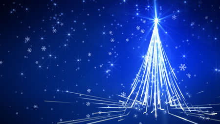 Background of Christmas Snowflakes and christmas tree which can be useful for Christmas,Holidays and New Year designs and presentation.  seamlessly loop-able Background animation.