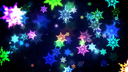 Background of Christmas Snowflakes which can be useful for Christmas,Holidays and New Year designs and presentation.  seamlessly loop-able Background animation. Stock Photo