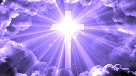 Worship and Prayer based cinematic clouds and light rays background loop in  resolution. Useful for divine, spiritual, fantasy concepts. Stock fotó - 108064685