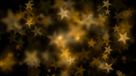 Abstract defocused Star light particles floating bokeh animation.