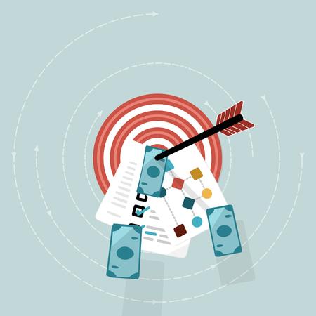 business success concept: Business success concept . Flat design vector illustration