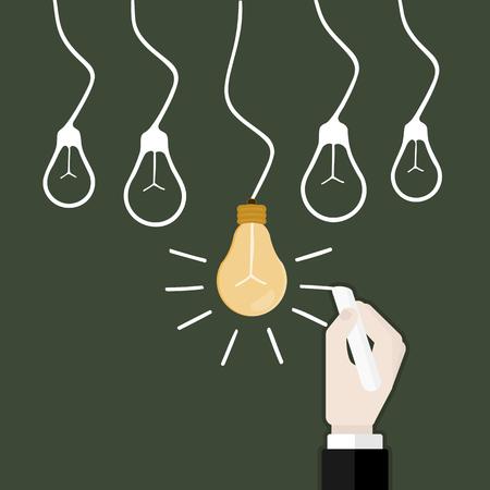 アイデアのアイコン ベクトルの背景。フラットなデザイン イラスト