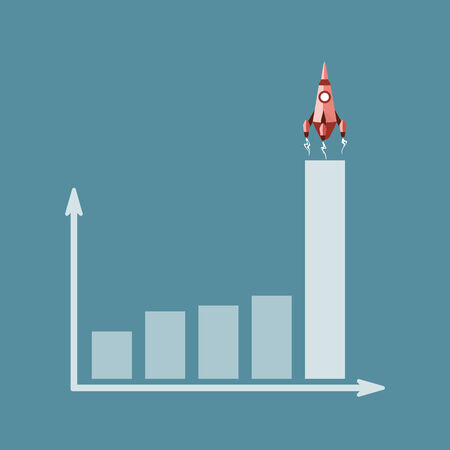 financial success: Finanzieller Erfolg Konzept. Flaches Design Web-Symbole
