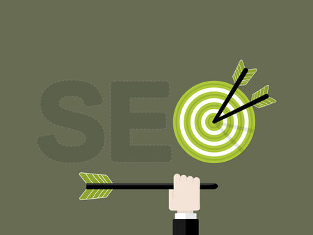 Search engine optimization concept. Flat design vector illustration Illustration