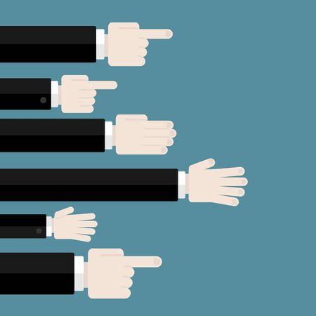 さまざまな状況でのビジネスの人々 とビジネスのフラットなデザイン モダンなベクトル イラスト概念