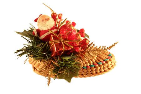 Santa Claus in a straw shoe  Santa Claus in a straw shoe  photo