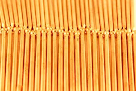 Gold construction nails  photo