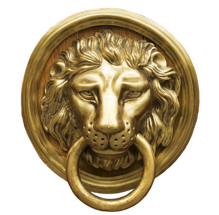 porte bois: Heurtoir de porte Lion Head, Heurtoir antique