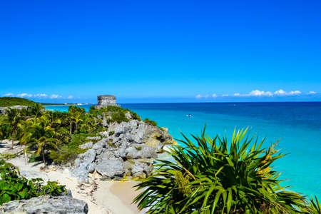 Beautiful Maya beach in Tulum, Quintana Roo, Mexico