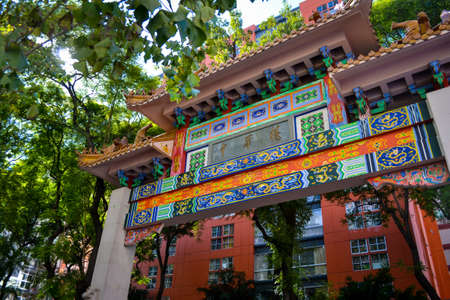 Colorful pawingang in chinatown