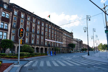 Mexico City, Mexico; April 26 2020: Empty streets of the historic center of mexico during Coronavirus outbreak. Sajtókép