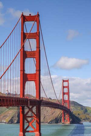 The famous Golden Gate Bridge of San Francisco, Californai USA