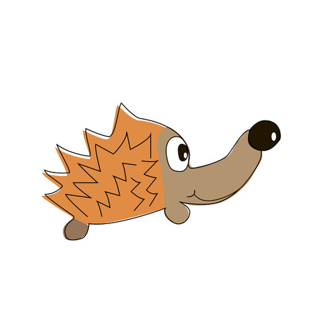 childish: Childish hedgehog isolated on white. Vector illustration.