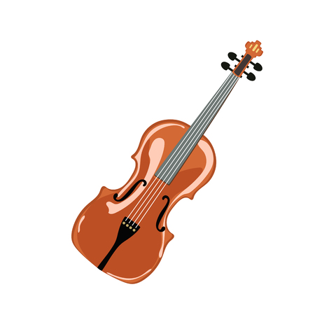 overture: Classic violin. isolated on white. Vector illustration.