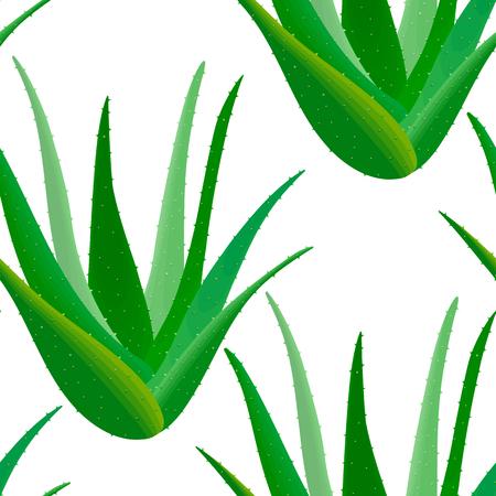 spiked: Aloe vera seamless pattern