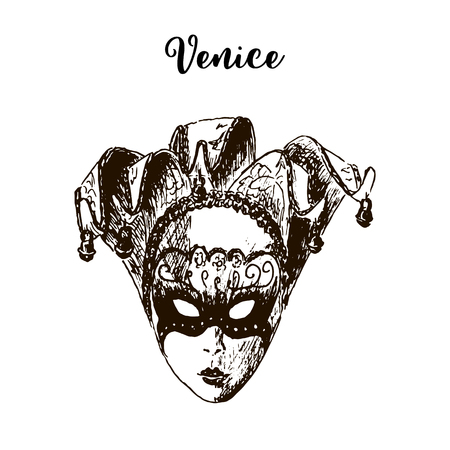 theatre masks: Carnival mask isolated icon. Venice