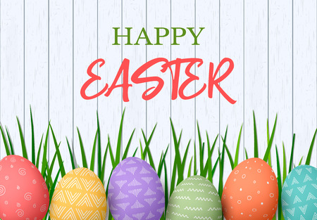 Happy Easter greeting cards design template