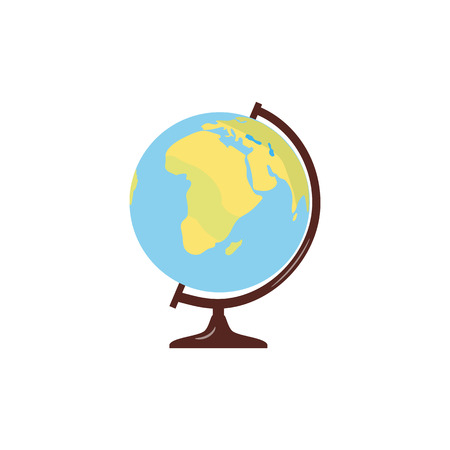 Vector globe. planet earth. decoration.