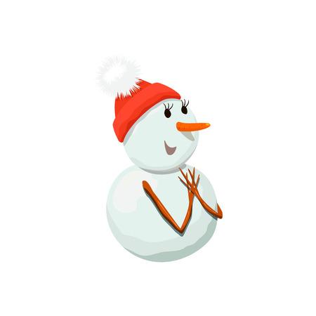 Snowman. Snowwoman. Precious frosty, gracious , shy, friendly, squint,