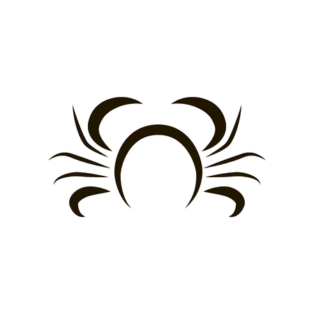 Crab.logo template. seafood Creative vector symbol of fishing club Vector illustration.