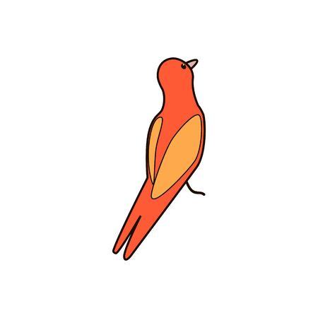 cartoon bird. Vector illustration, can be used for creating card or 向量圖像