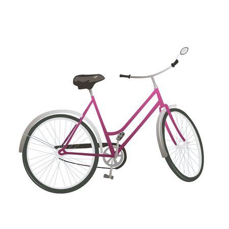 Immagine isolata bici da città classica Illustrazione vettoriale isolata