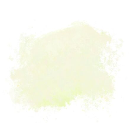 Abstract yellow, lemon watercolor blot on white background.The color splashing