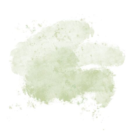 Abstract green pistache watercolor blot on white background.The color splashing