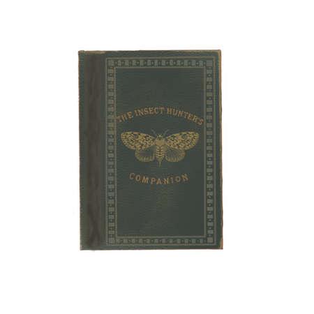 Vintage worn grey book, book cover. dark academia,