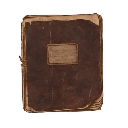 Old vintage notebook background with copy-space in center Banque d'images