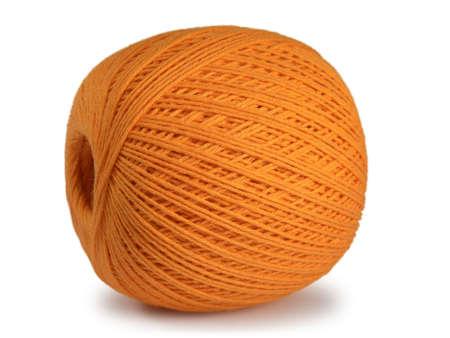 clod: Orange clew isolated on white background. Stock Photo