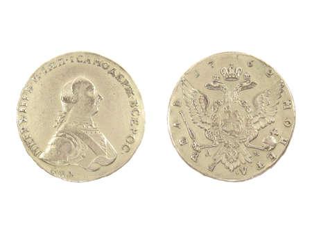Antique silver coin of 1762.