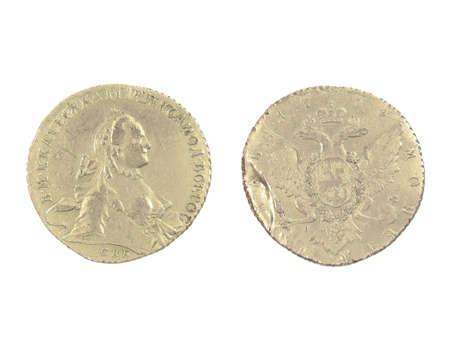 Antique silver coin of 1764.