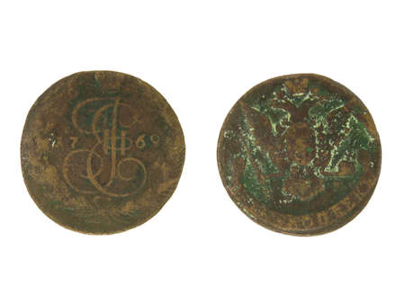 Antique copper coin of 1769.