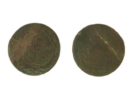 Antique copper coin of 1766.