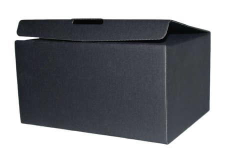 Black open box isolated