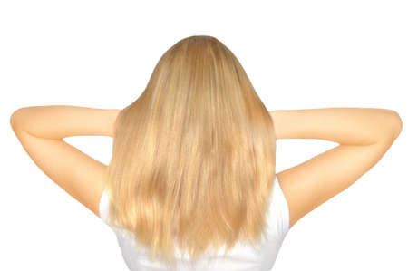 Blond hair natural color Stock Photo