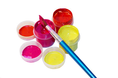Gouache and brush colorful painting Stock Photo - 12518654