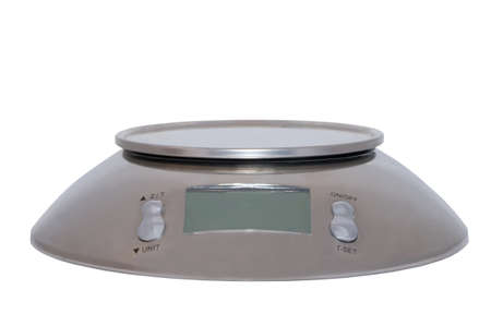 Food scale digital isolated on white background Stock Photo