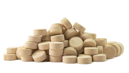 Tablets pills medicine  in heap Stock Photo - 12807151
