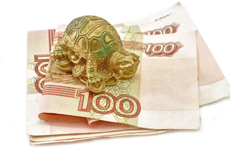 Money and Tortoise Rich concept Feng Shui Asian photo
