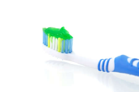 Toothbrush dental hygiene on white background Stock Photo - 13159981