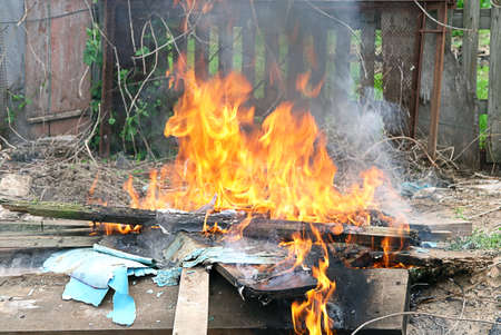 punishable: Flame Fire illegal burn in city